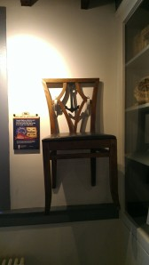 An original chair from the Ship Hotel - how cool is that?